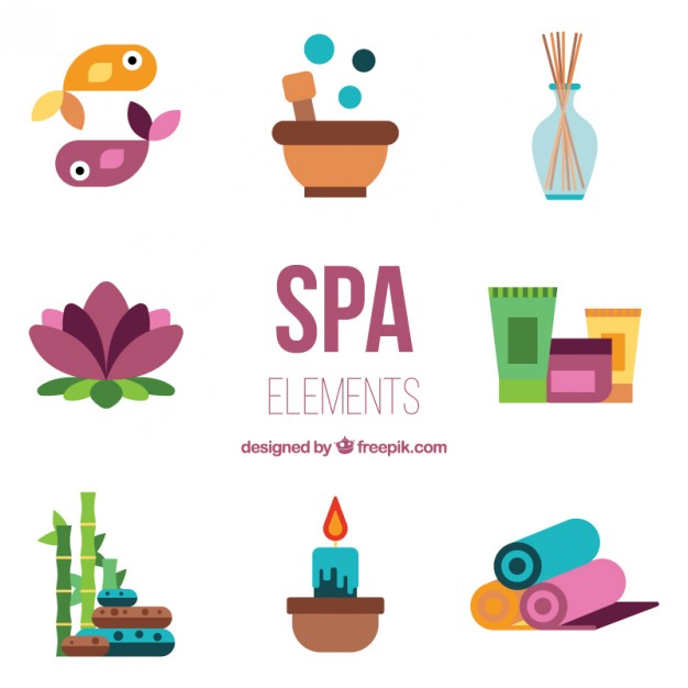 626x626 Flat Beauty Accessories Of Spa Vector Free Download
