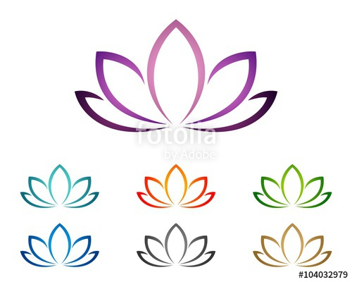 500x400 Purple Lotus Or Lily Flower For Spa Logo Template 2 Stock Image