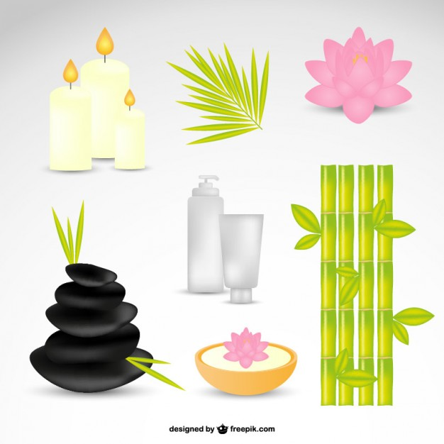 626x626 Spa Stones, Candles And Bamboo Vector Free Download