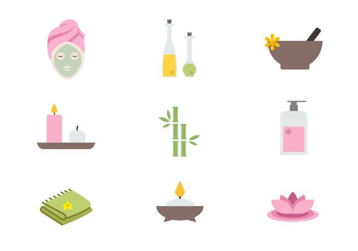 700x490 Spa Icons Vector