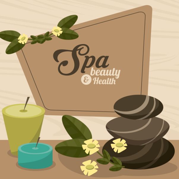 603x601 Spa Beauty Health Vector Background 07 Free Download