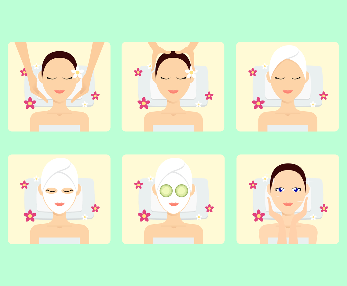 1136x936 Beautiful Spa Treatment Vector Vector Art Amp Graphics