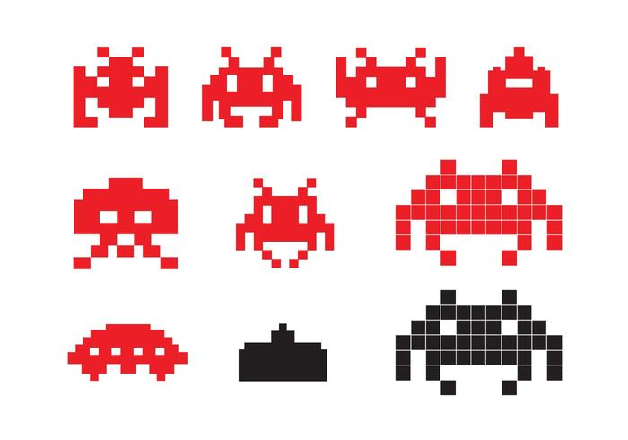 700x490 Space Invader Icons
