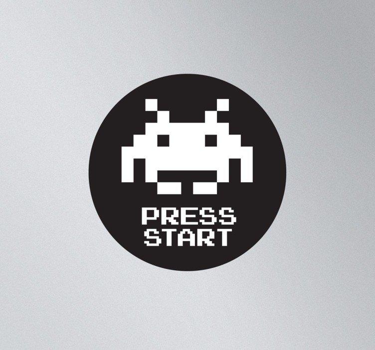 752x703 Space Invader Laptop Sticker