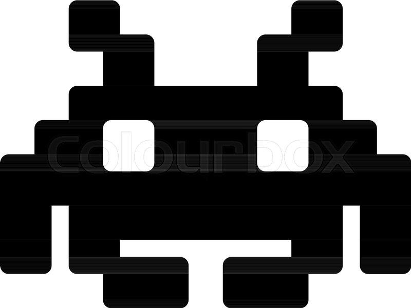 800x600 Space Invaders Character Stock Vector Colourbox