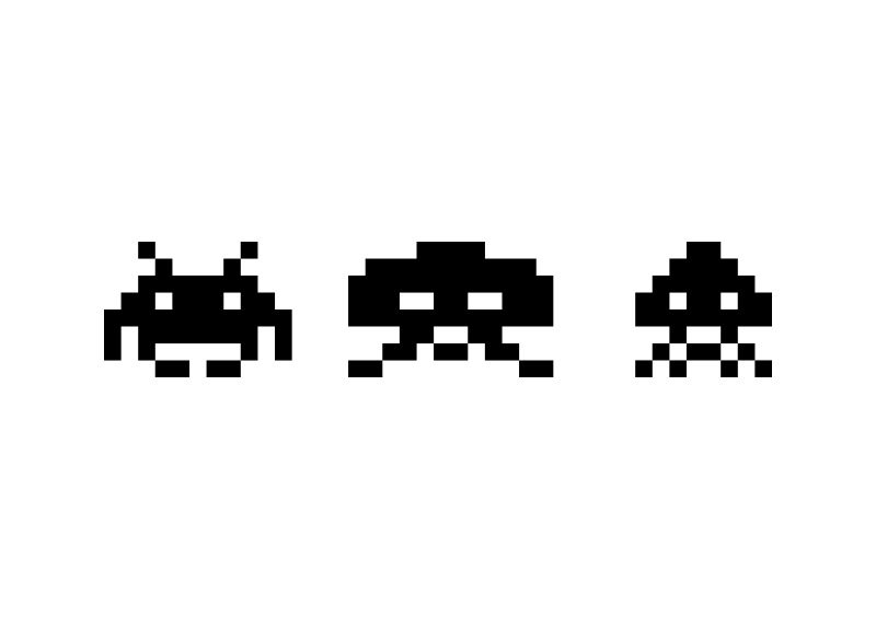 800x566 Space Invaders Vector