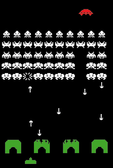 363x541 Space Invaders Vector By Bombingcat