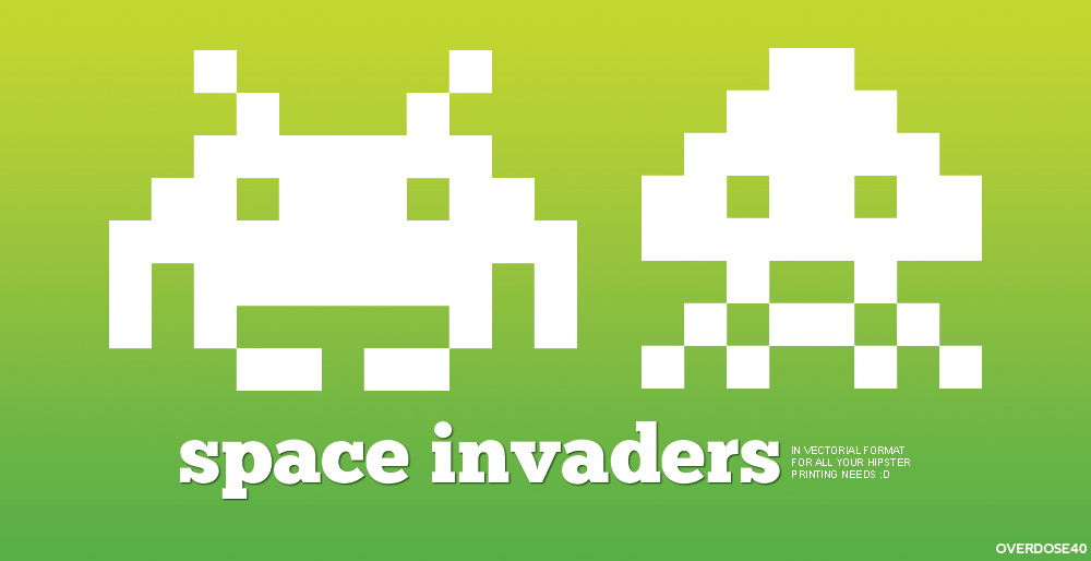1000x514 Space Invaders Vector By Grdx