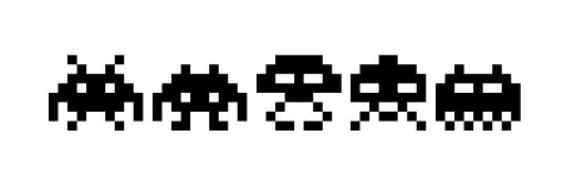 520x160 Space Invaders Clipart