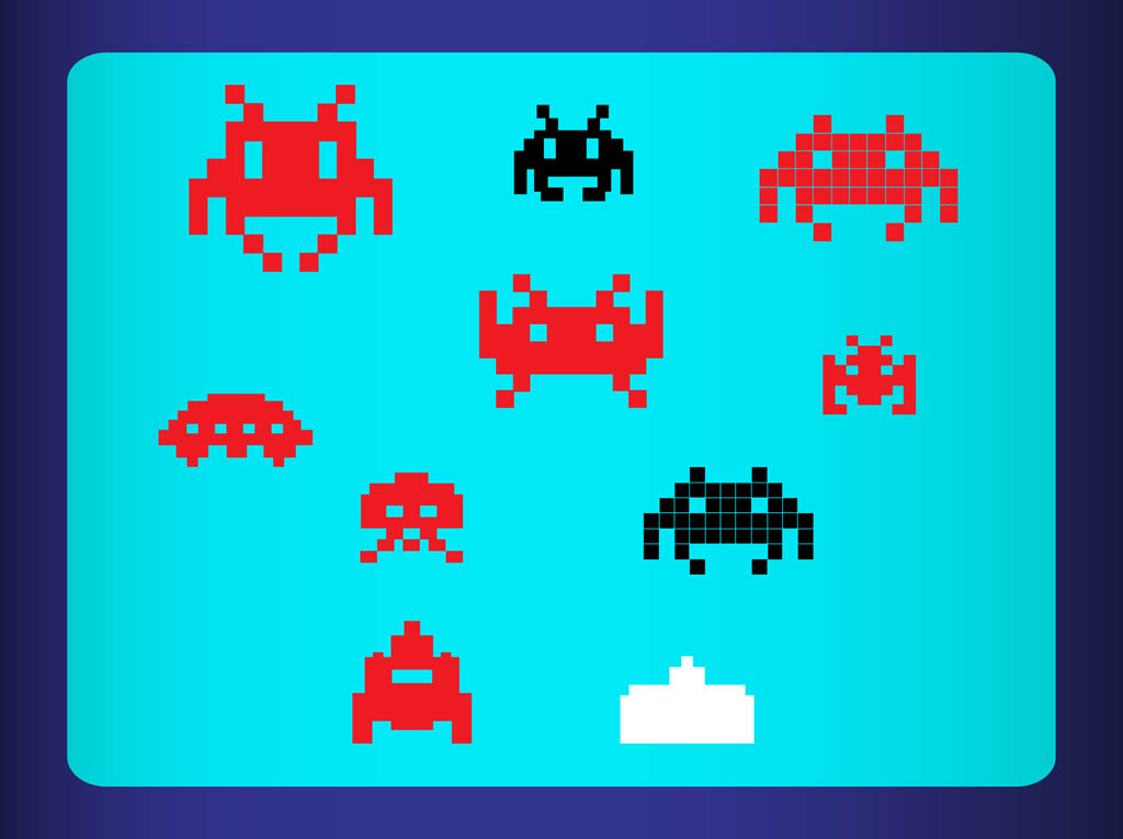 1024x765 Free Space Invaders Vector Vector Art Amp Graphics