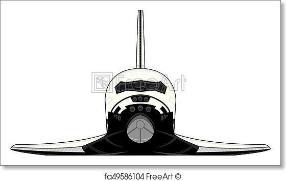 560x355 Free Art Print Of Space Shuttle. Cartoon Space Shuttle Vector