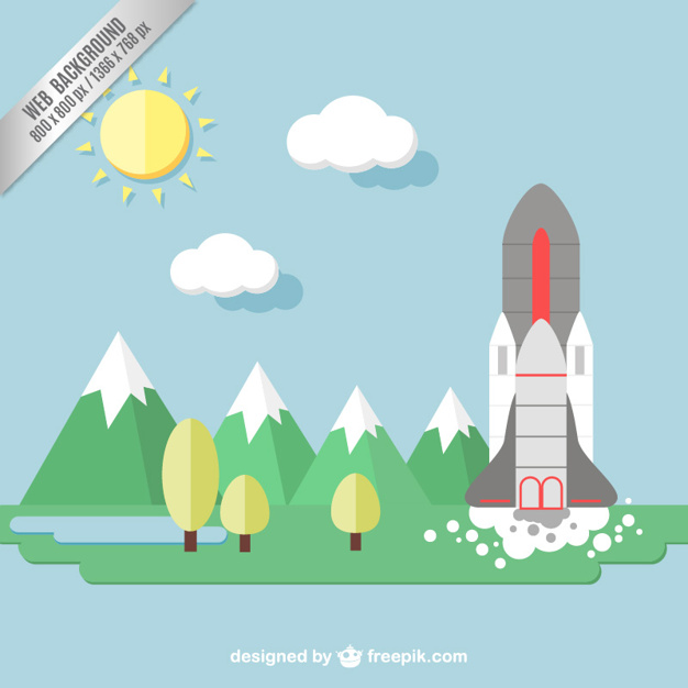626x626 Background With Space Shuttle Vector Free Download
