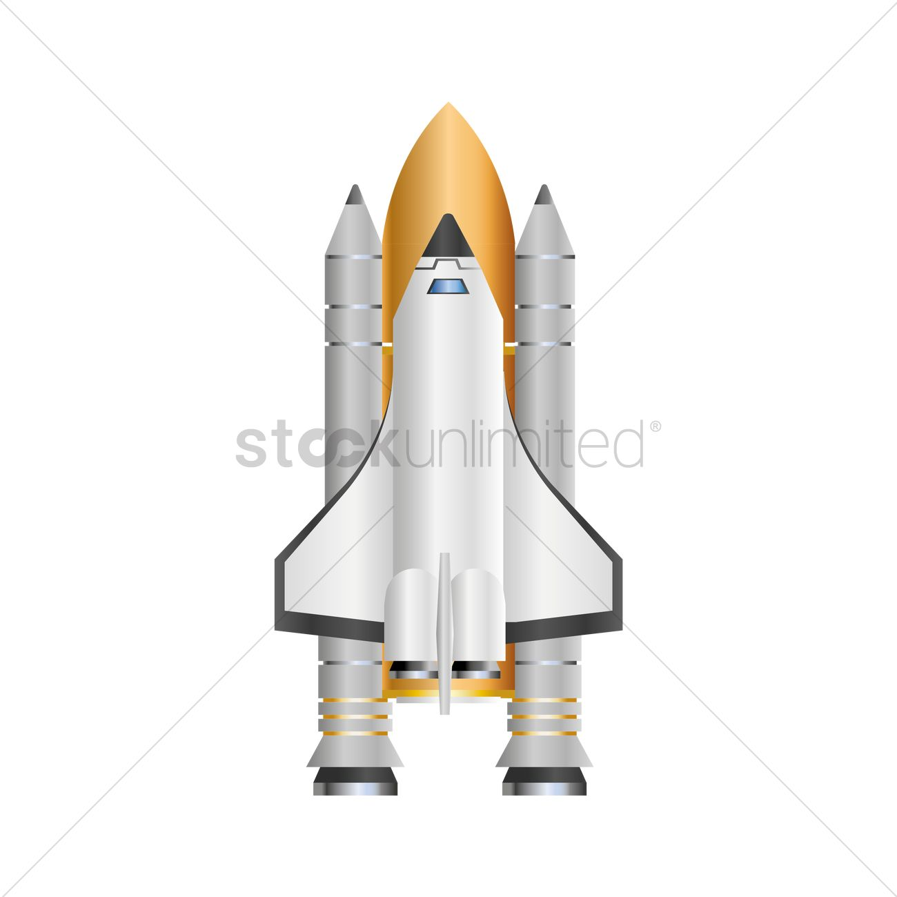 1300x1300 Space Shuttle Vector Image