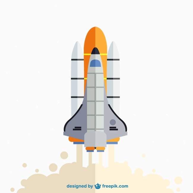 650x650 Beautifully Launch Shuttle Vector Material Downloaded,, Space
