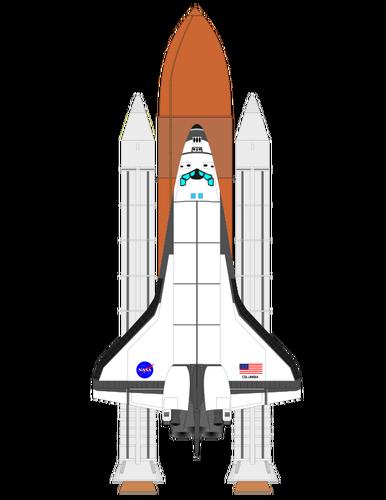 386x500 Space Shuttle Vector Illustration Public Domain Vectors