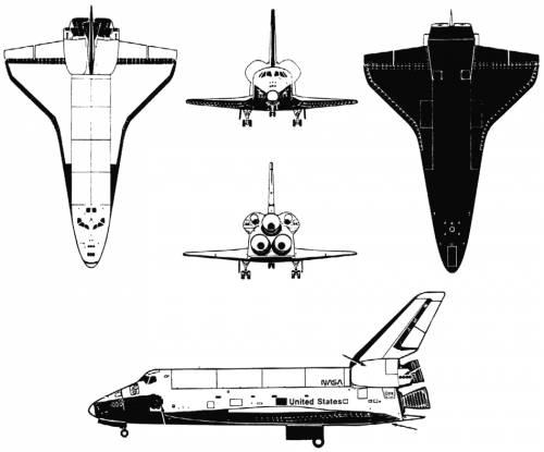 500x415 Blueprints Gt Modern Airplanes Gt Modern Sa St Gt Space Shuttle