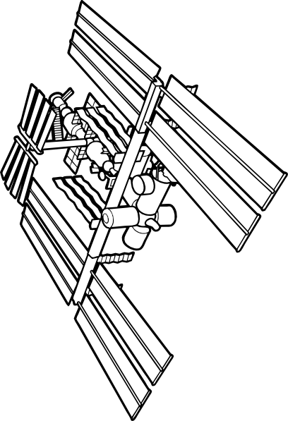 408x597 International Space Station Clip Art Free Vector 4vector