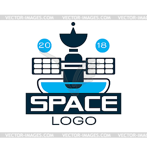 300x300 Logo Of Orbiting Space Station With Satellite.