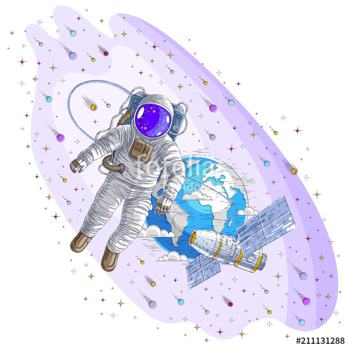 500x499 Astronaut Went Out Into Open Space Connected To Space Station And