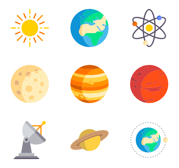 600x564 Space Station Icons