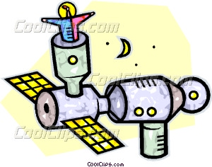 300x236 Space Station Vector Clip Art