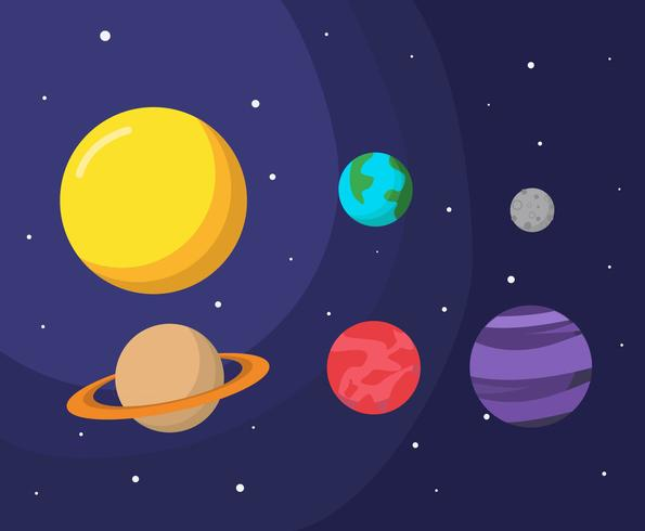 595x490 Planet And Space Vector