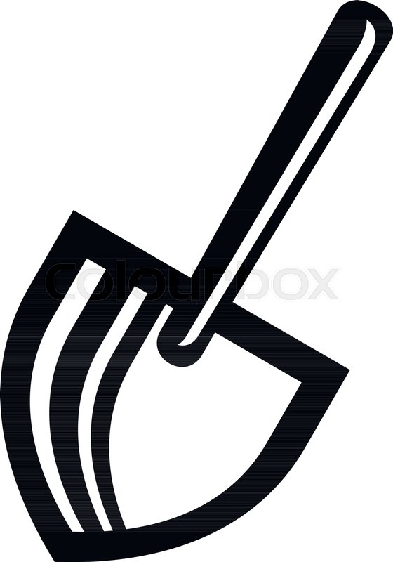 560x800 Steel Spade Icon. Simple Illustration Of Steel Spade Vector Icon