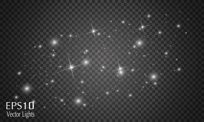 400x240 Glow Light Effect. Star Burst With Sparkles. Vector Illustration
