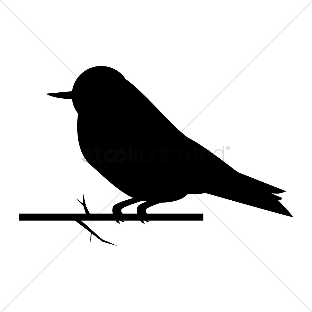 1300x1300 Silhouette Of Sparrow Vector Image