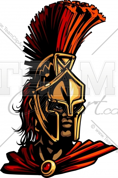 391x590 Spartan Mascot Clipart Image. Easy To Edit Vector Format.