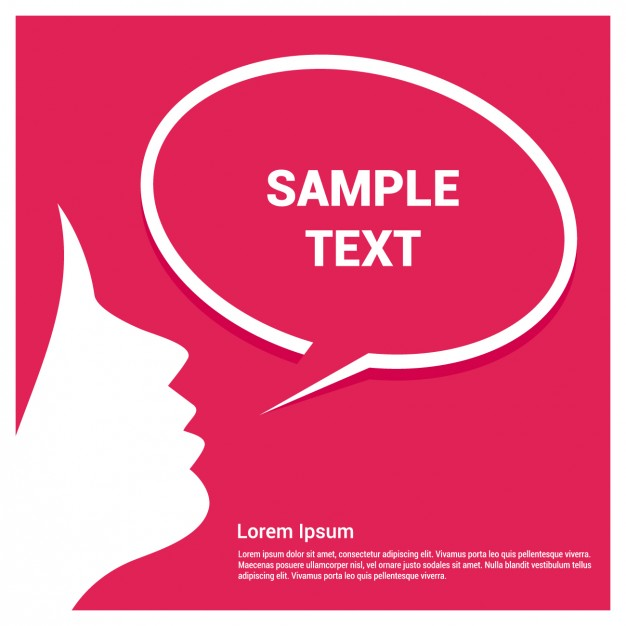 626x626 Speech Bubble Template With Girl Vector Free Download