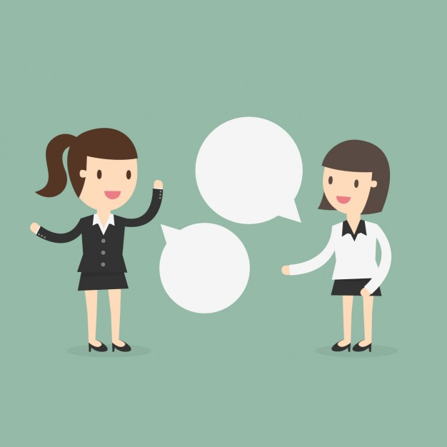 626x626 Two Business Women Speaking Vector Free Download