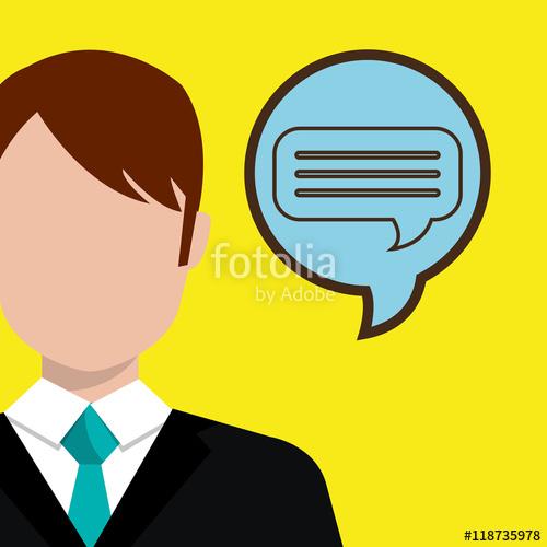 500x500 Man Idea Bubble Speak Vector Illustration Design Stock Image And