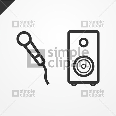 400x400 Microphone And Speaker Icon Vector Image