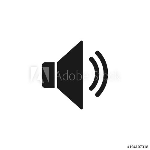 500x500 Sound Icon, Speaker Icon. Sound Vector Icon, Music Volume Symbol