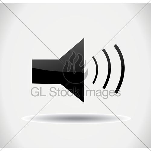 500x500 Speaker Icon Gl Stock Images