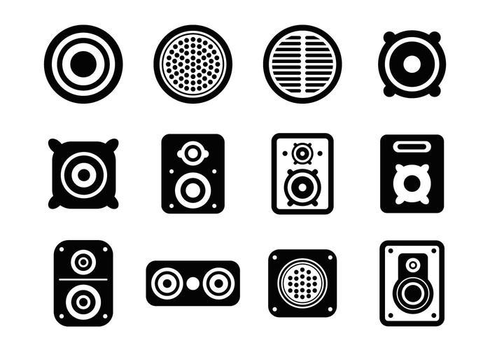 700x490 Speaker Icons Vector