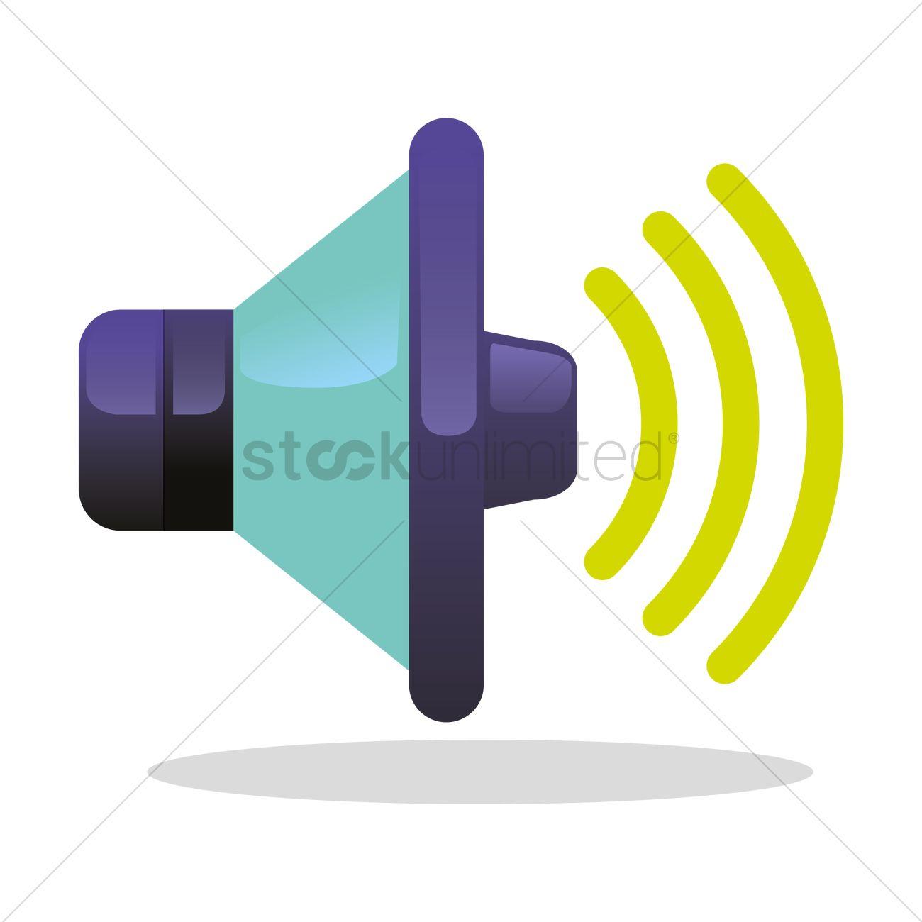 1300x1300 Speaker Icon Vector Image