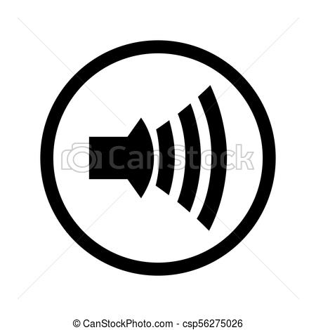 450x470 Speaker Icon Vector On A White Background.