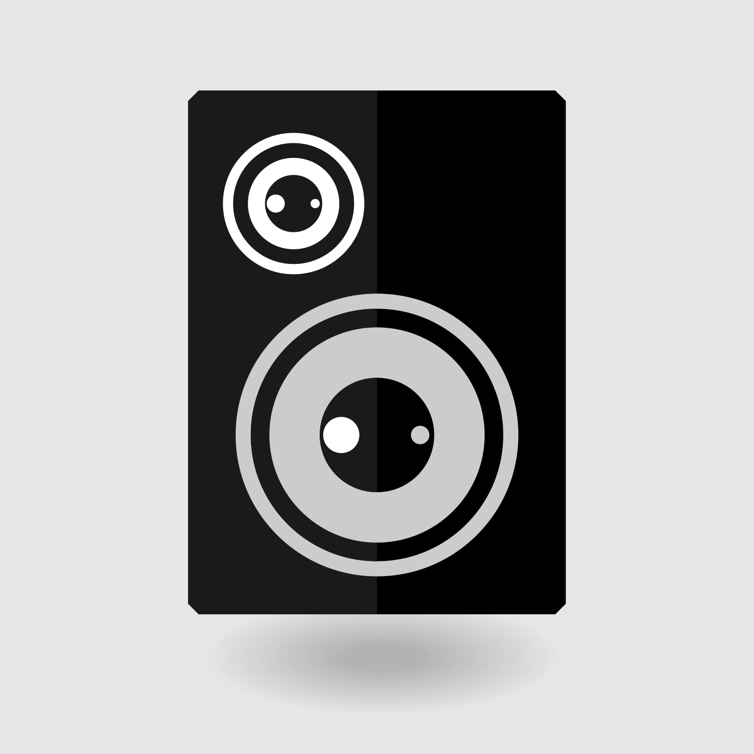 1500x1500 Vector For Free Use Speaker Flat Icon