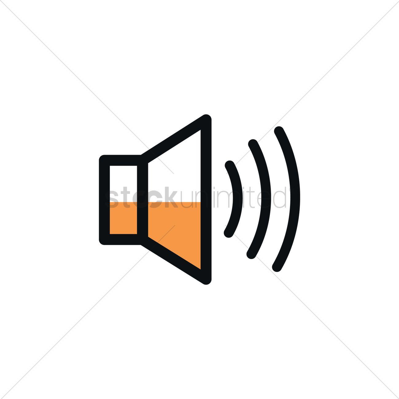 1300x1300 Volume Speaker Icon Vector Image