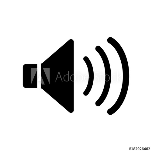 500x500 Speaker Icon, Sound Icon Vector