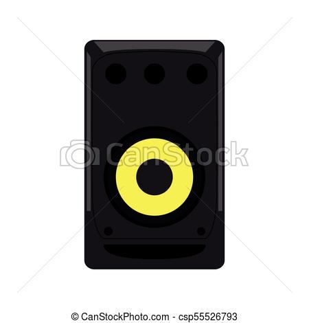 450x470 Isolated Speaker Icon Image. Vector Illustration Design.