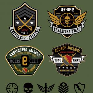 300x300 Military Logos Special Forces Set Army Arenawp