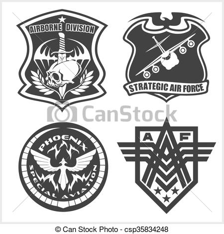 450x470 Military Airforce Patch Set