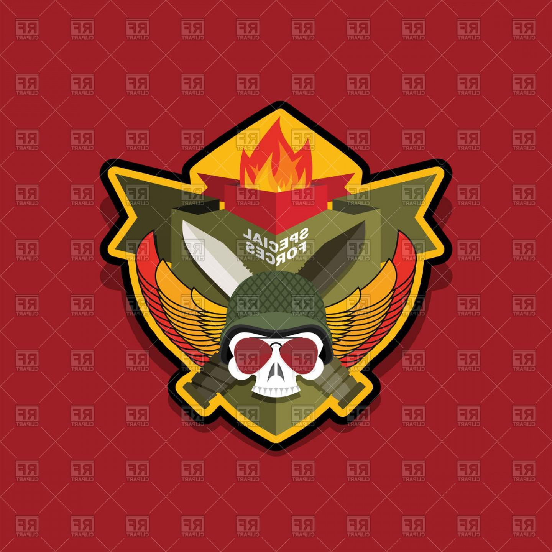 1440x1440 Special Forces Emblem Military Logo Skull And Helmet Vector