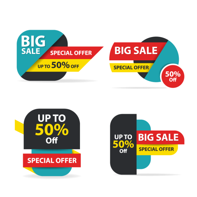 640x640 Colorful Shopping Sale , Sale, Offer, Vector Png And Vector For