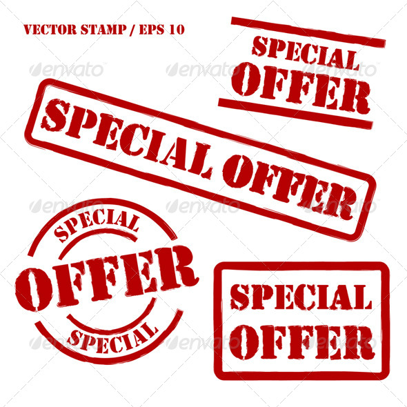590x590 Special Offer Vector Stamps Set By Artag Graphicriver