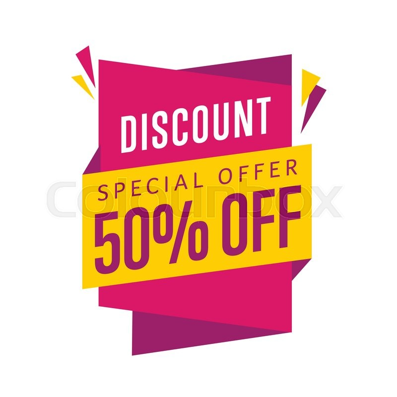 800x800 Discount Tag Vector Isolated. Sale Sticker With Special