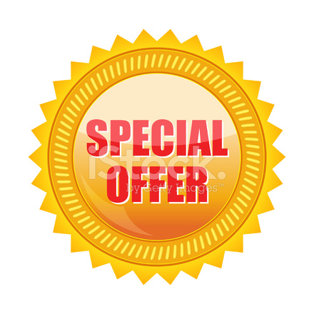 440x440 Special Offer Vector Stock Vector